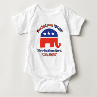 You had your Hope Its Time For Change Baby Bodysuit