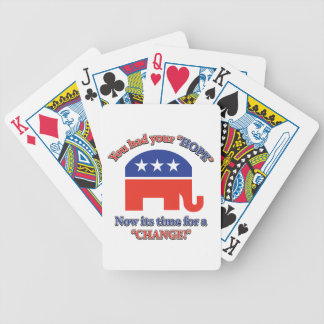 You had your Hope Its Time For Change Bicycle Playing Cards