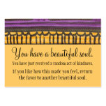 You Have A Beautiful Soul Business Card Template
