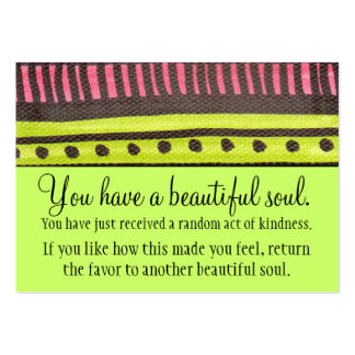 You Have A Beautiful Soul Large Business Card
