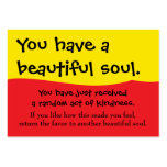 You Have A Beautiful Soul Pay It Forward PIF Business Card Template