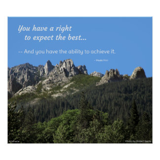 You have a right to expect the best... print