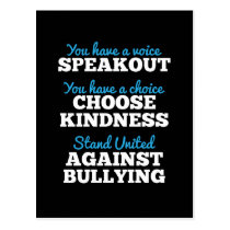 You Have A Voice, Stand Against Bullying Postcard
