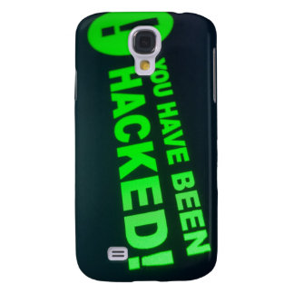 You have been hacked sign on LCD Screen Galaxy S4 Covers