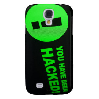 You have been hacked sign on LCD Screen Samsung Galaxy S4 Cover