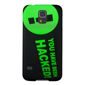 You have been hacked sign on LCD Screen Galaxy S5 Cover