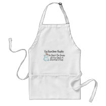 You Have Been Naughty Snowmans Poop Adult Apron
