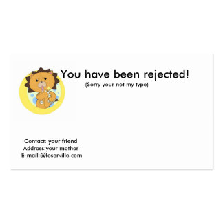 You have been rejected!, Cont... Business Card