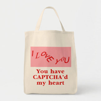 You Have Captcha'd My Heart Tote Bag