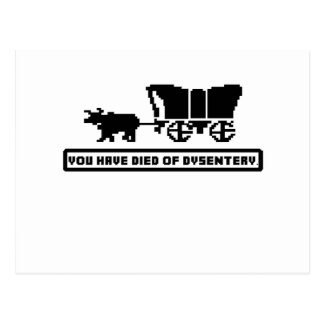 You have died of dysentery Oregon Trail Postcard