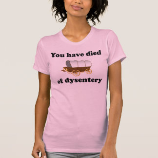 You Have Died of Dysentery T Shirts