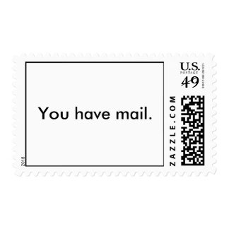 You have mail. postage