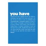 you have | mini-print personalized invitation