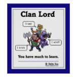 You have much to learn - bordered poster