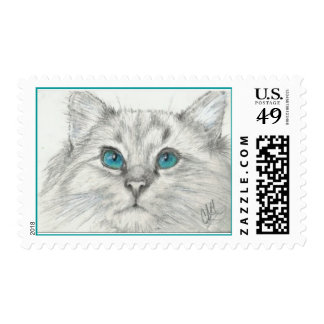 """""""You Have My Attention"""" Cat First Class Stamp"""