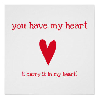 You have my heart | Poem by E.E. Cummings Poster