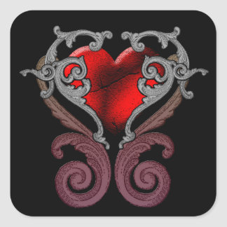 You Have My Heart (Red) Square Stickers