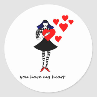 You have my Heart Round Sticker