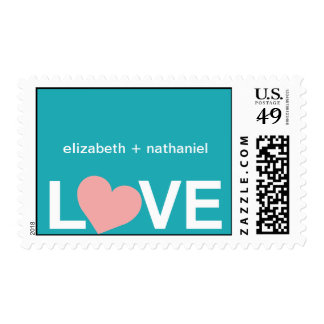 You Have My Heart Wedding Postage Stamp-cozumel