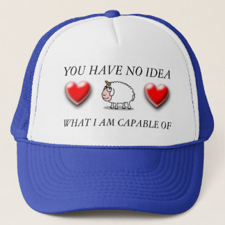 you have no idea what i'm capable of horned sheep trucker hat