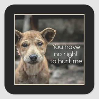 You Have No Right Animal Rescue Stickers