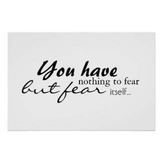 You have nothing to fear... poster