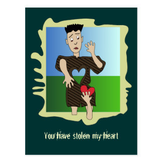 You have stolen my heart postcard