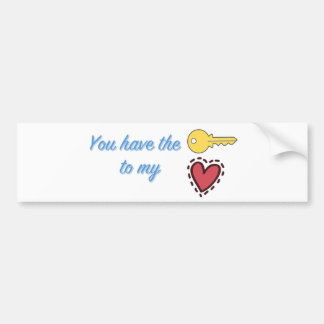 You Have the Key to My Heart Bumper Sticker