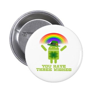 You Have Three Wishes (Android Bugdroid Rainbow) Pins