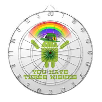 You Have Three Wishes (Android Bugdroid Rainbow) Dartboard