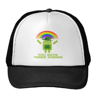 You Have Three Wishes (Android Bugdroid Rainbow) Mesh Hats