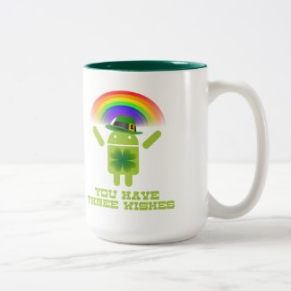 You Have Three Wishes (Android Bugdroid Rainbow) Mugs