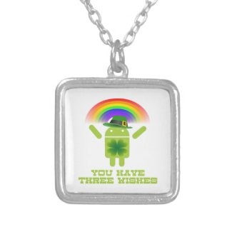 You Have Three Wishes (Android Bugdroid Rainbow) Necklaces