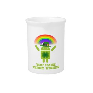 You Have Three Wishes (Android Bugdroid Rainbow) Pitcher