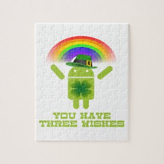 You Have Three Wishes (Android Bugdroid Rainbow) Puzzles