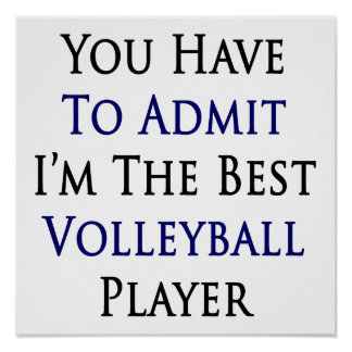 You Have To Admit I'm The Best Volleyball Player Poster