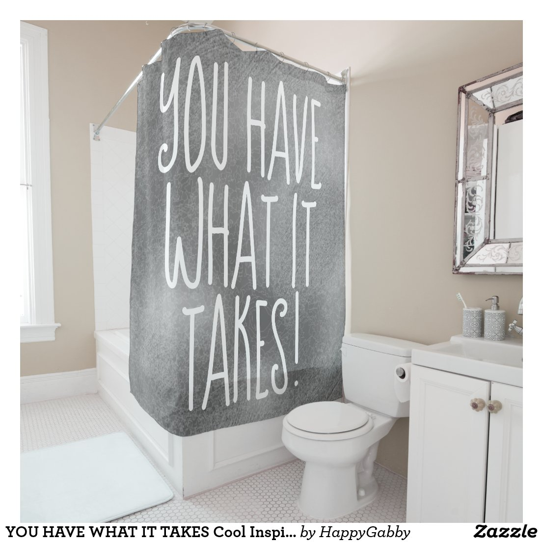 Cool Inspirational Quote Shower Curtain