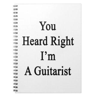 You Heard Right I'm A Guitarist Spiral Notebook
