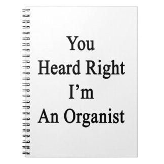 You Heard Right I'm An Organist Spiral Notebooks