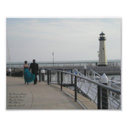 You Held My Hand Lighthouse Color Photograph Kodak
