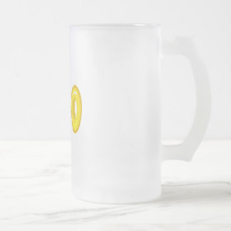 you hold the key frosted glass beer mug