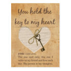 You Hold the Key to My Heart Postcard