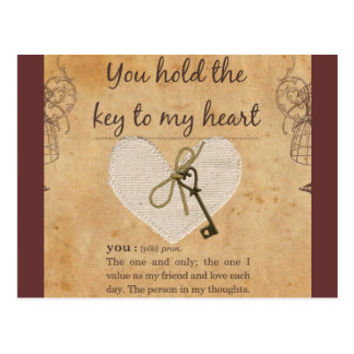 You Hold the Key to My Heart Postcards