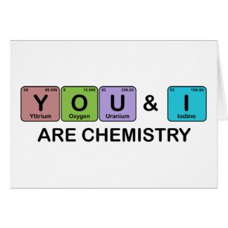 You & I Are Chemistry Periodic Table Love Card