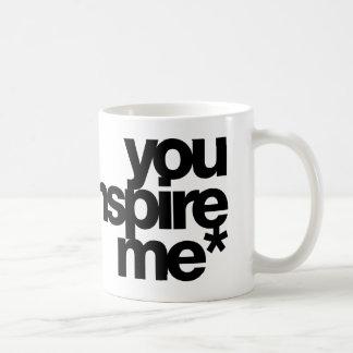 you inspire me* classic white coffee mug