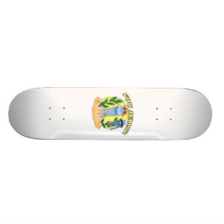 You Jelly Mustache Jellyfish Custom Skate Board