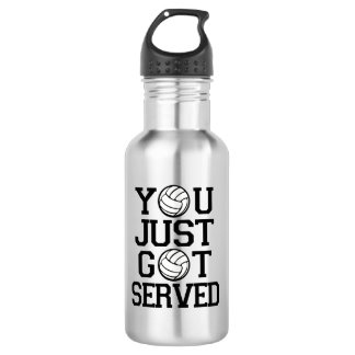 You Just Got Served funny Volleyball water bottle