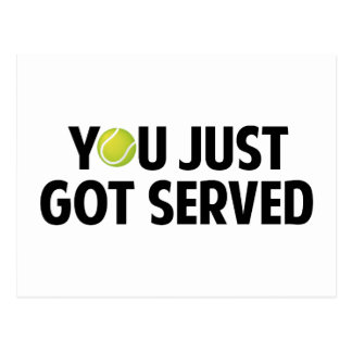 You Just Got Served Postcard