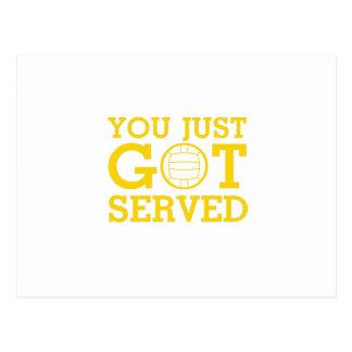 You Just Got Served volleyball coach men women Postcard