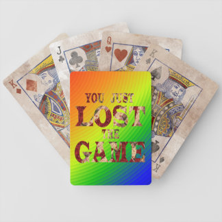 You just lost the game - Internet meme Bicycle Playing Cards